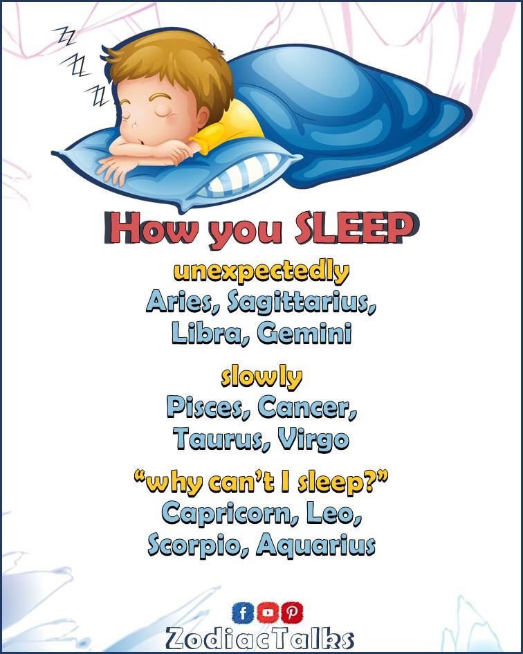 Zodiac Signs how you sleep