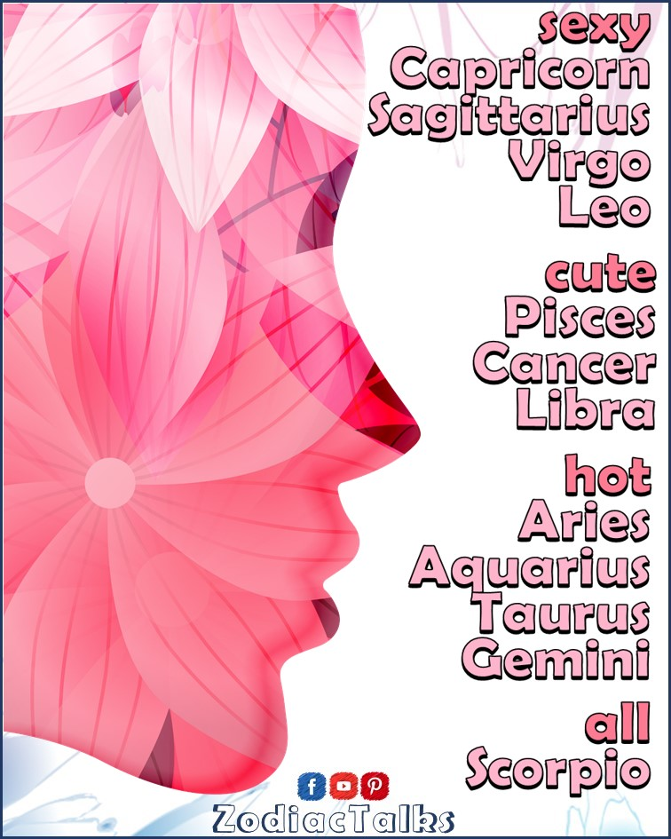 Zodiac Signs - beauty scale