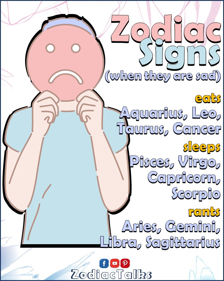 Zodiac Signs - When they are sad