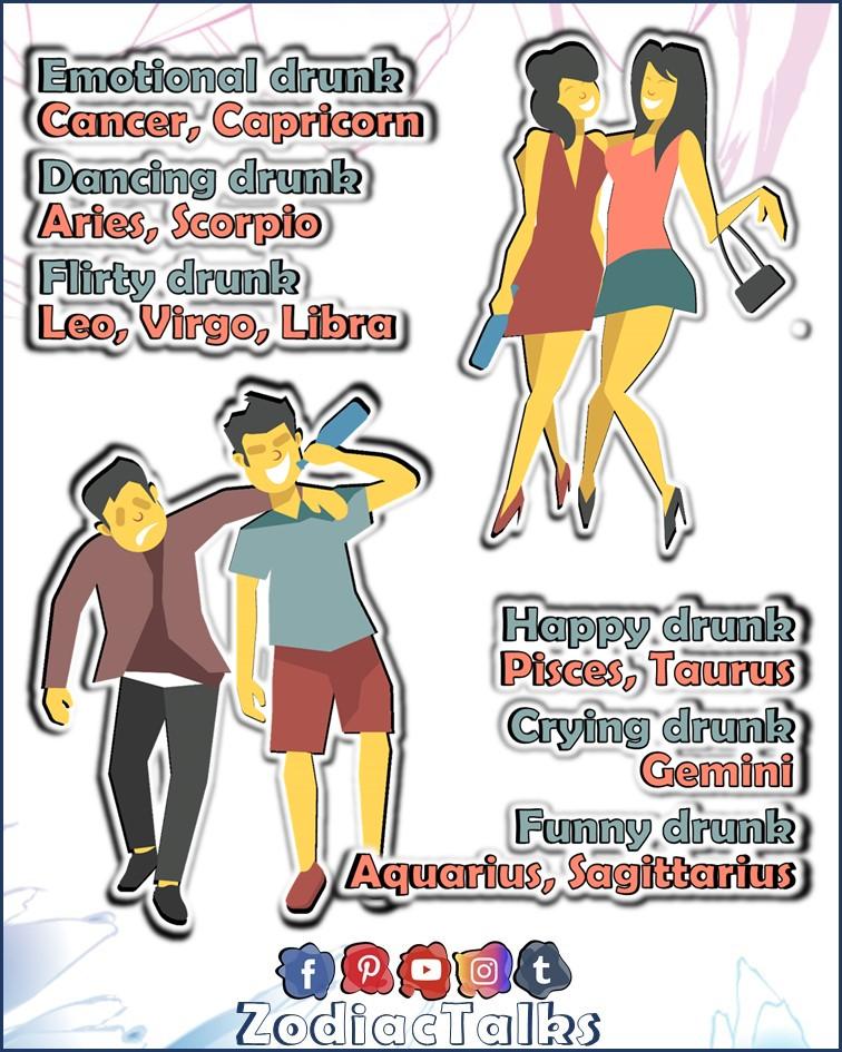 ZODIAC SIGNS - KINDS OF DRUNKS