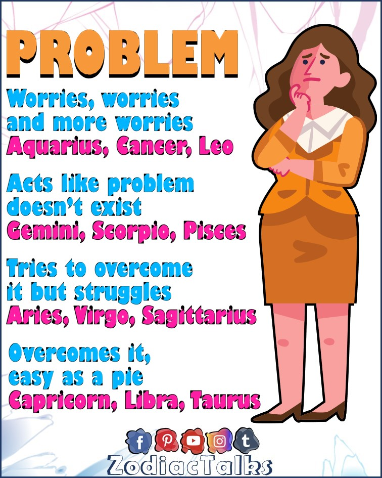 Zodiac Signs and problems