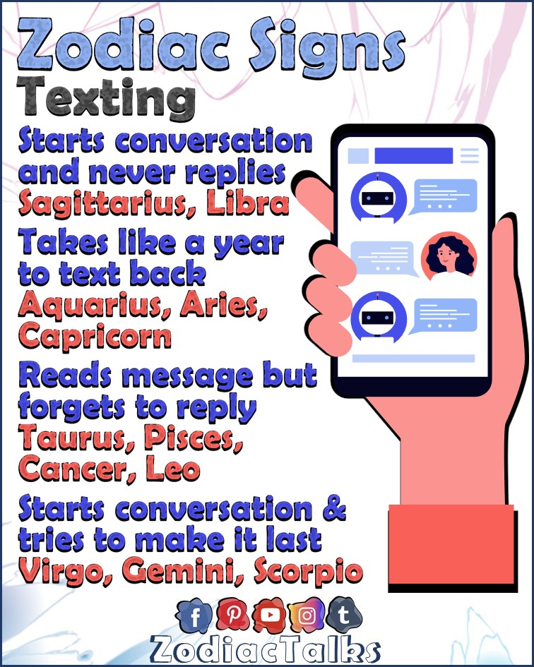 Zodiac Signs and texting