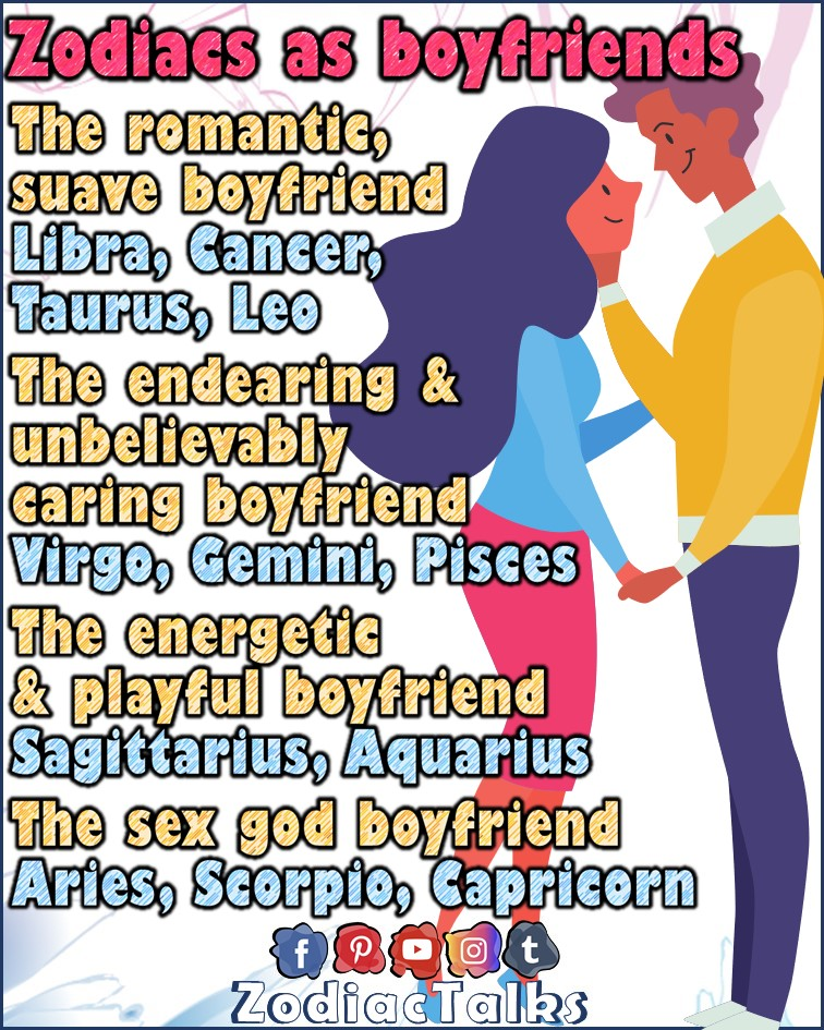 Zodiac Signs as boyfriends