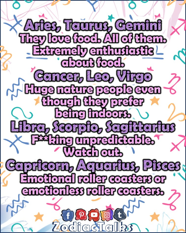 Zodiac Signs traits