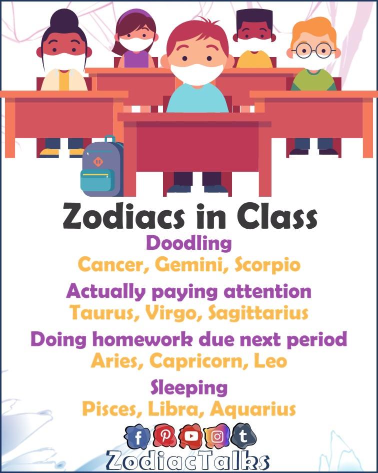 Zodiac Signs in class