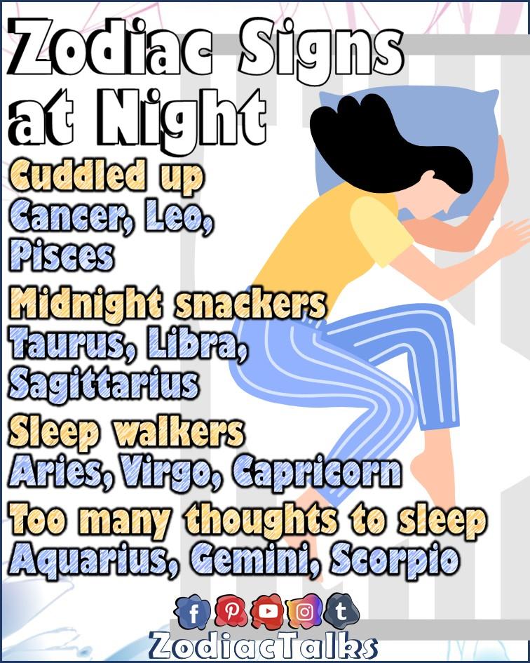 Zodiac Signs at night