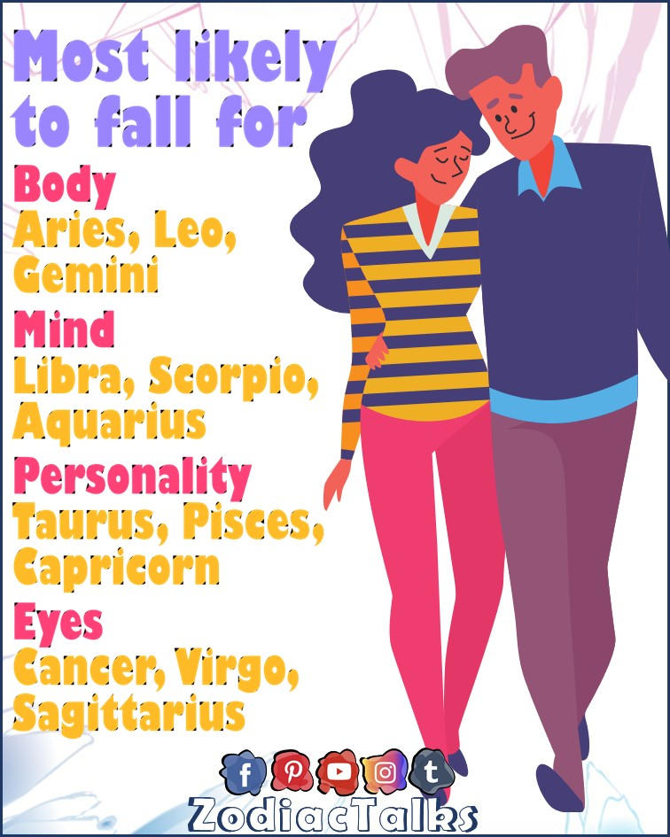 Zodiac Signs and falling for
