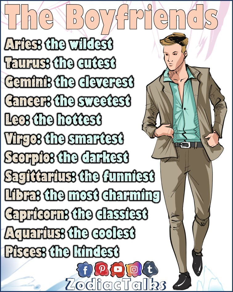 Zodiac Signs and the boyfriends