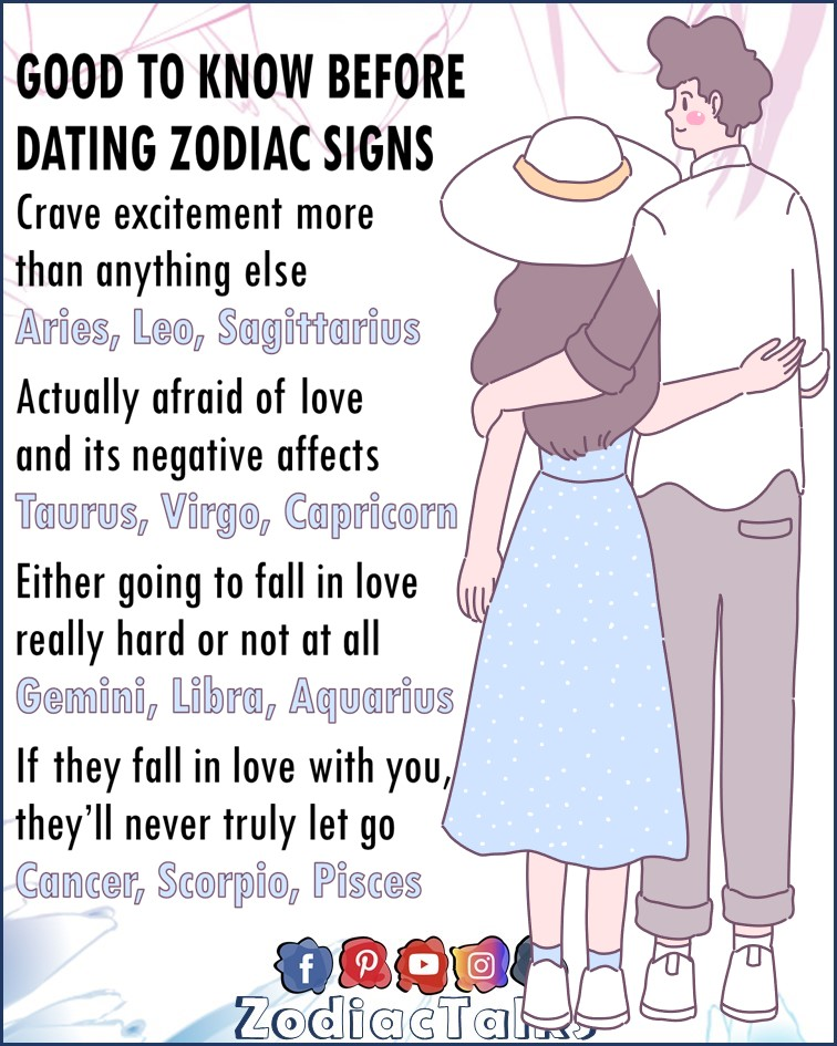Zodiac Signs and things to know before dating