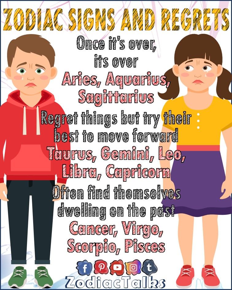 Zodiac Signs and regrets