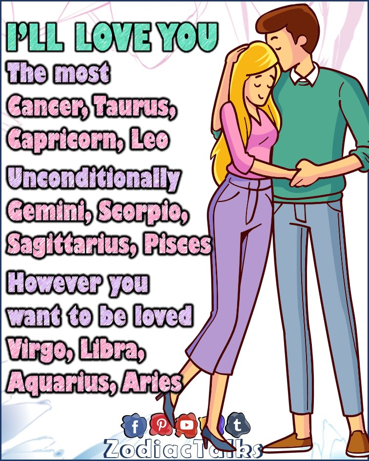 Zodiac Signs and I'll love you