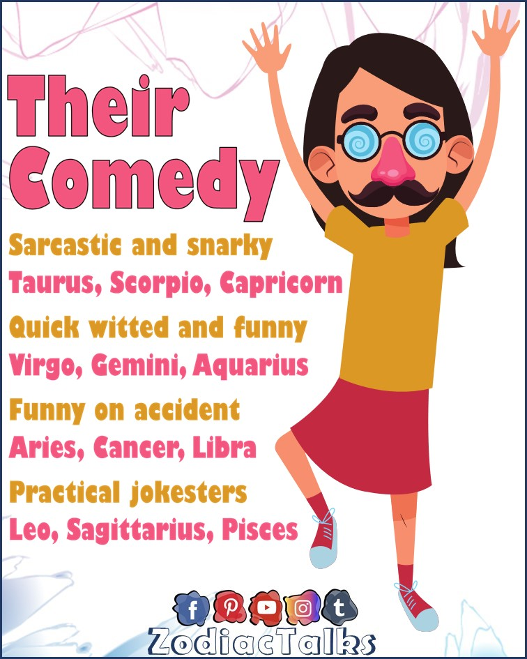 Zodiac Signs and their comedy