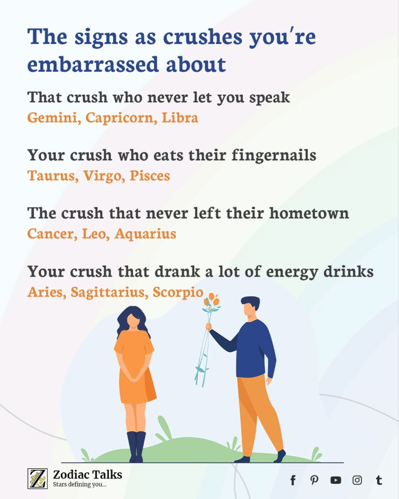 Zodiac Signs and embarrassed about